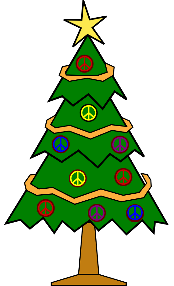 clipartist.net » Clip Art » xmas christmas tree 112 peace symbol ...