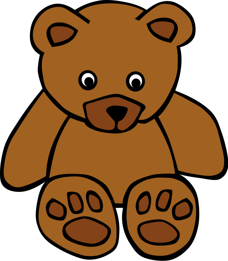 Simple Teddy Bear SVG Vector file, vector clip art svg file ...
