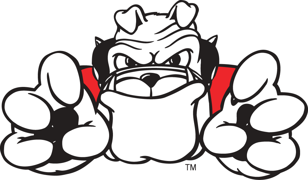 Bulldog Mascot Basketball