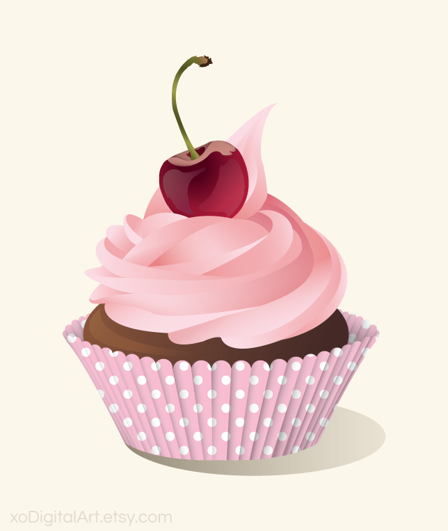 Image Of A Cupcake - Cliparts.co