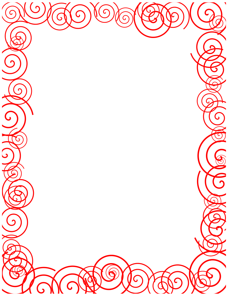 Free Borders and Clip Art | Downloadable Free Spirals Borders