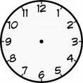Time Worksheets  Large Clock Face with Hands Worksheets