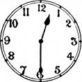 blank analog clock clip art - photo #24